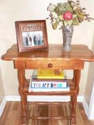 Handmade Cherry table & antique vase